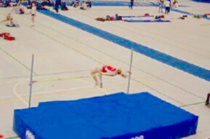 Jess Hill high jumping